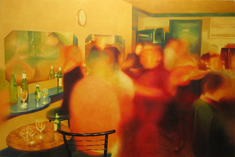Party in Jajce 5, 2003, 200x300 cm, oil on canvas