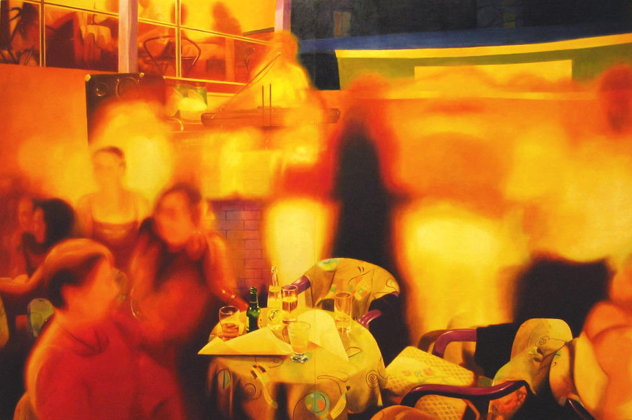 Party in Jajce 3, 2003, 200x300 cm, oil on canvas