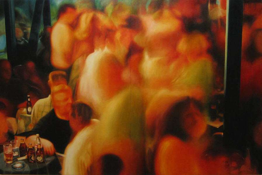 Party in Jajce 2, 2002, 200x300 cm, oil on canvas