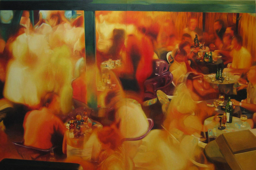 Party in Jajce 1, 2002,  200x300 cm, oil on canvas